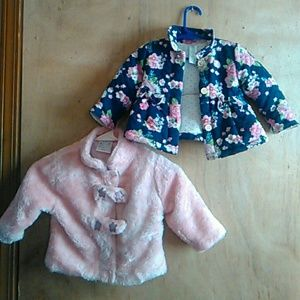 Other - 2#jackets faux fur and quilted